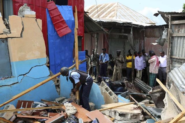 Deux personnes ont été tuées et sept blessées lundi dans l'explosion d'une... (Photo FEISAL OMAR, REUTERS)
