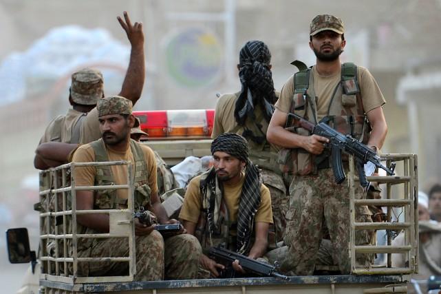 Depuis le lancement de l'offensive sur la Waziristan... (Photo A Majeed, AFP)