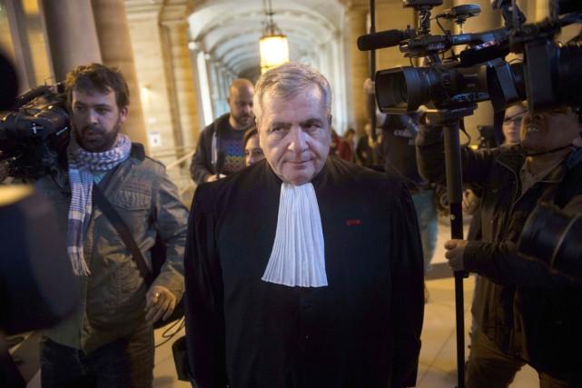 Thierry Herzog, avocat de l'ex-président français Nicolas Sarkozy,... (PHOTO MARTIN BUREAU, ARCHIVES AFP)