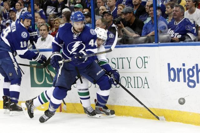 Nate Thompson... (Photo Kim Klement, USA TODAY Sports)