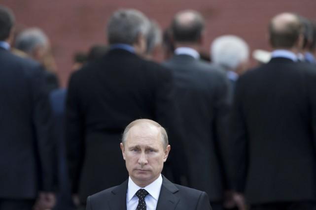 Le président russe Vladimir Poutine.... (PHOTO ALEXANDER ZEMLIANICHENKO, ARCHIVES AP)