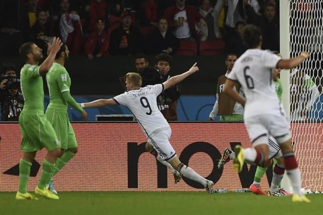 Andre Schuerrle a inscrit l'un des deux buts... (Photo AFP)