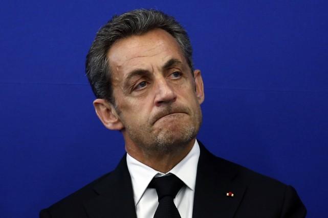 L'ancien président Nicolas Sarkozy a été placé en garde à vue mardi par la... (PHOTO ERIC GAILLARD, REUTERS)