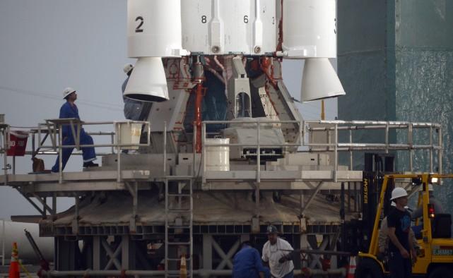 La Nasa a reporté à la dernière minute mardi, à cause d'un problème technique,... (Photo GENE BLEVINS, Reuters)