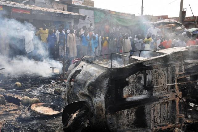 L'attentat n'a pas été revendiqué, mais Maiduguri, capitale... (Photo AFP)