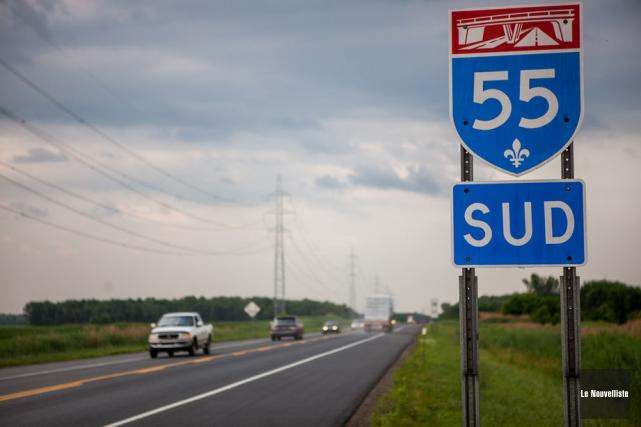 Le doublement de l'autoroute 55 n'est pas dans... (Photo: Olivier Croteau, Le Nouvelliste)