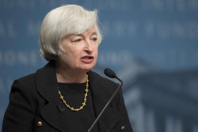 Janet Yellen, présidente de la Réserve fédérale américaine... (Photo Jim WATSON, AFP)