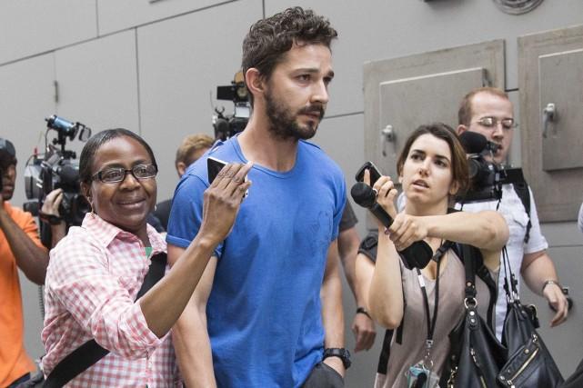 L'acteur Shia LaBeoufa été accusé de conduite désordonnée,... (Photo BRENDAN MCDERMID, REUTERS)