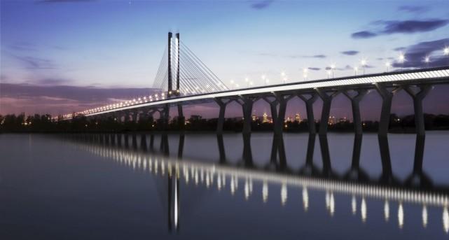 La vision architecturale du nouveau pont Champlain.... (PHOTO FOURNIE PAR INFRASTRUCTURE CANADA)