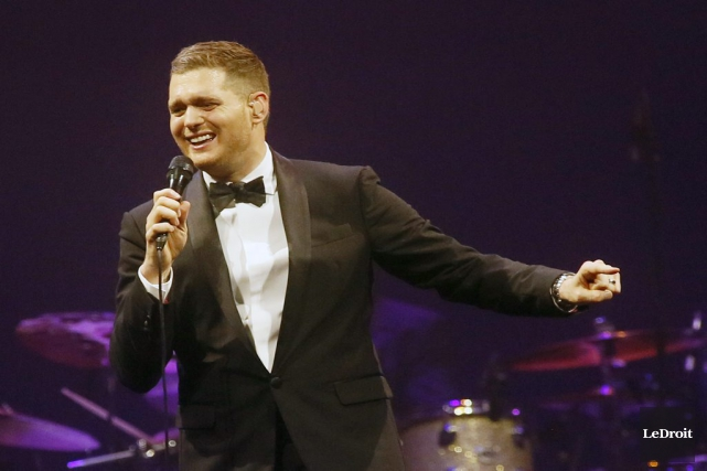 Michael Bublé... (Photo: archives Le Droit)