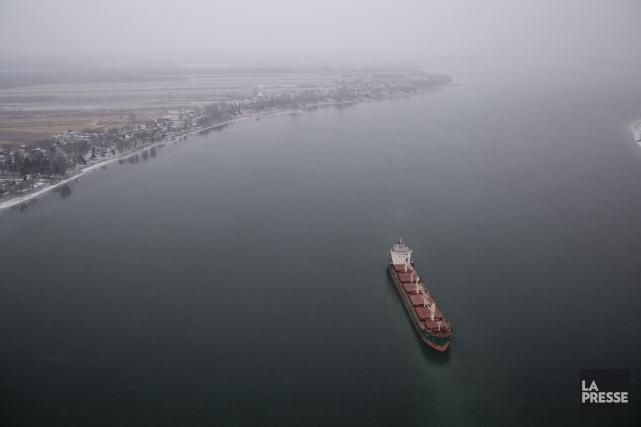Le bateau naviguait sur le fleuve Saint-Laurent à... (Photo François Roy, archives La Presse)