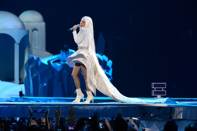 Lady Gaga a une fois de plus refusé la présence des journalistes et des... (Photo Kevin Mazur, fournie par WireImage)