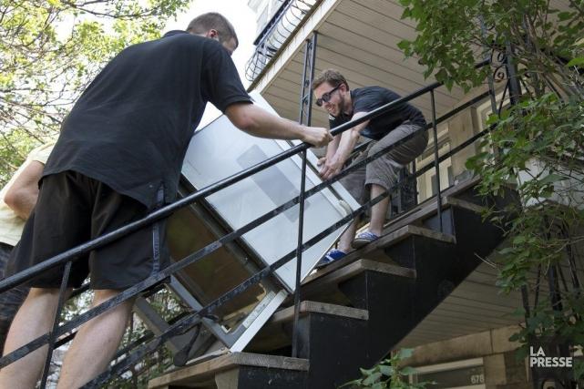 De moins en moins de gens se retrouvent sans logement au lendemain de la grande... (PHOTO ROBERT SKINNER, LA PRESSE)
