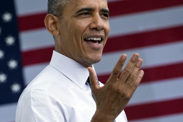 Le président américain, Barack Obama... (Photo Mandel NGAN, AFP)