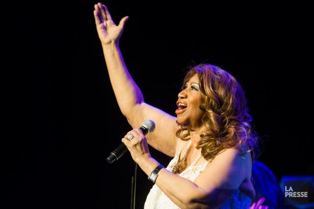 Aretha Franklin lors de sa participation au Festival... (Photo: Olivier Pontbriand, archives La Presse)