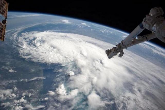 Arthurvu depuis la Station spatiale internationale (ISS).... (PHOTO TIRÉE DE TWITTER)