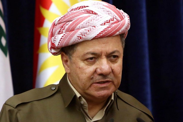 Le président Barzani avait prévenu en début de... (PHOTO SAFIN HAMED, ARCHIVES AFP)