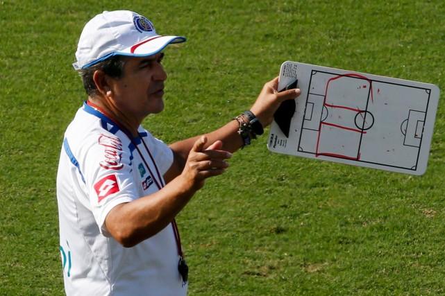 Le sélectionneur du Costa Rica, Jorge Luis Pinto.... (Photo Paulo Whitaker, Reuters)