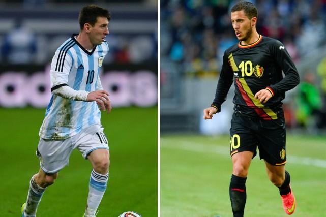 Lionel Messi et l'Argentine affronteront Eden Hazard et... (Photos AFP)