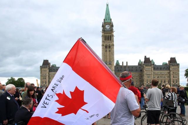 Un rassemblement de vétérans devant le Parlement à... (Photo archives PC)