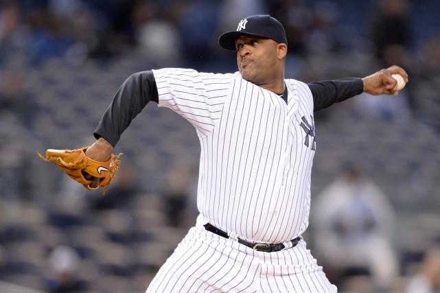 Le lanceur des Yankees de New York C.C.... (Photo Robert Deutsch, USA TODAY Sports)