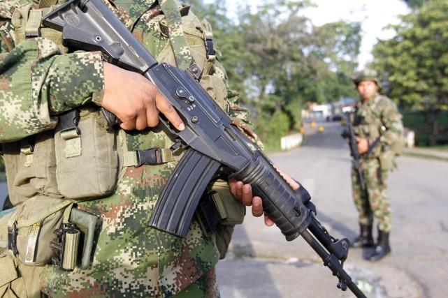Une patrouille a été attaquée avec des «explosifs... (PHOTO ARCHIVES REUTERS)