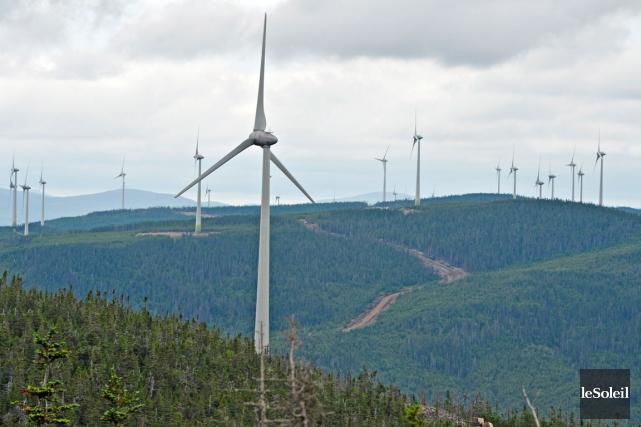 Les redevances versées pour les parcs éoliens n'enrichissent... (Photo le Soleil, Pascal Ratthé)