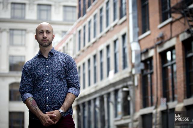 Jeff Stinco, membre du groupe Simple Plan, produit... (PHOTO OLIVIER JEAN, LA PRESSE)