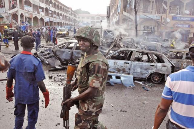 Selon des experts militaires, l'armée nigériane, sous-équipée, est... (PHOTO OLAMIKAN GBEMIGA, ARCHIVES AP)