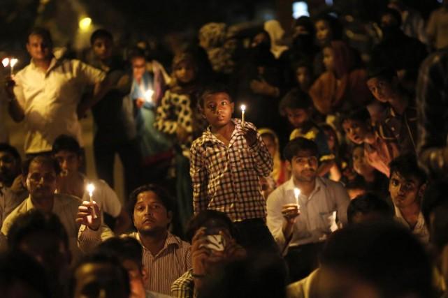 Une vigile avait été organisée, hier soir, par... (PHOTO ANINDITO MUKHERJEE, ARCHIVES REUTERS)