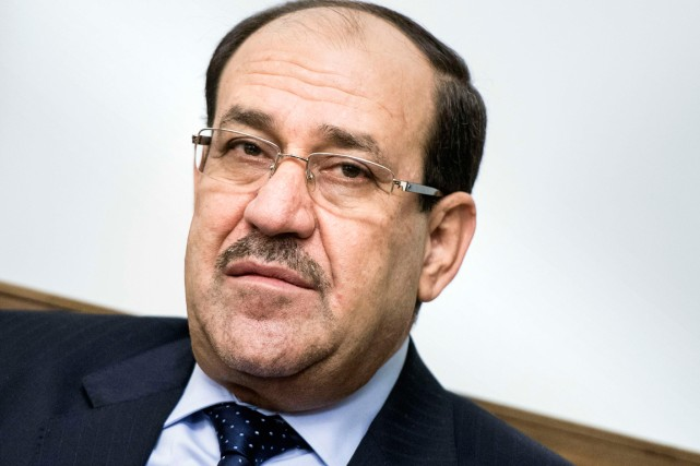 Nouri al-Maliki avance que sa coalition «l'État de... (PHOTO BRENDAN SMIALOWSKI, AGENCE FRANCE-PRESSE)