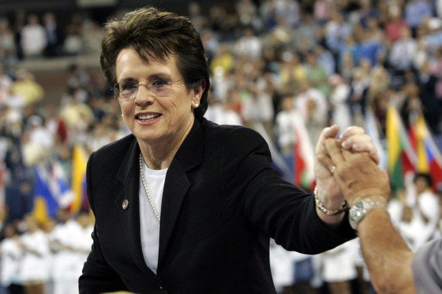 L'ancienne championne de tennis Billie Jean King.... (Photo Ann Heisenfelt, archives AP)
