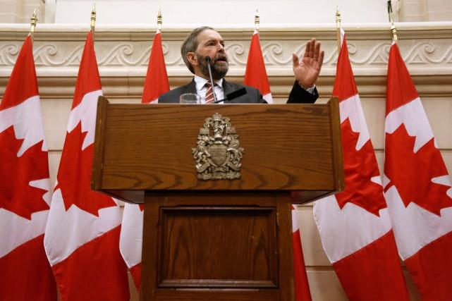 Le chef néo-démocrateThomas Mulcair.... (PHOTO CHRIS WATTIE, ARCHIVES REUTERS)