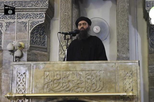 Selon la vidéo diffusée sur des sites djihadistes... (PHOTO AFP / AL-FURQAN MEDIA)