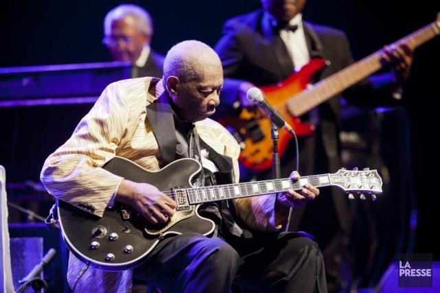 B.B. King à lasalle Wilfrid-Pelletier, samedi soir.... (PHOTO SARAH MONGEAU-BIRKETT, LA PRESSE)