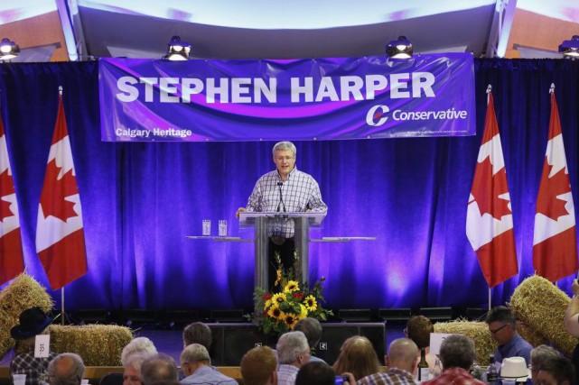 Stephen Harper a critiqué le chef libéral dans... (PHOTO TODD KOROL, ARCHIVES REUTERS)