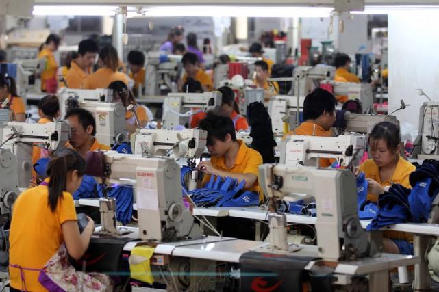 «Toutes les catégories de l'indice PMI montrent que... (Photo archives AFP)