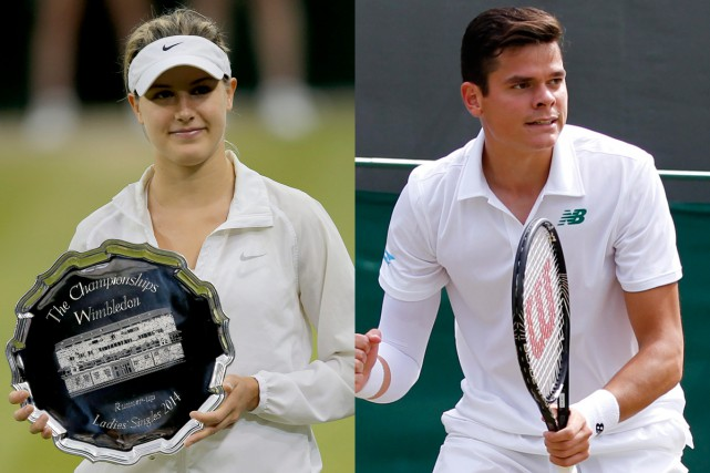 Les Canadiens Eugenie Bouchard et Milos Raonic se... (Archives, Associated Press)