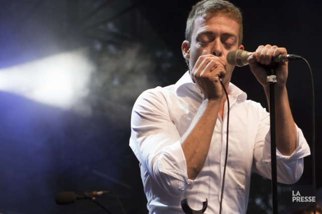 Alexandre Désilets était en spectacle hier soir dans... (Photo: Mathieu Waddell, La Presse)