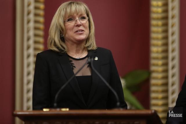 La ministre de la Famille, Francine Charbonneau.... (Photo d'archives, La Presse Canadienne)