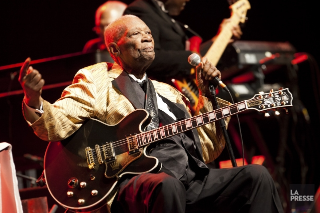 B.B. King lors de son spectacle à Montréal... (Photo: archives La Presse)
