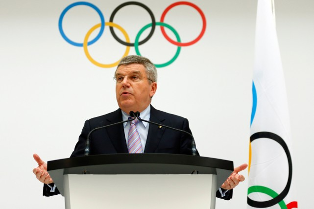 Le président du CIO, Thomas Bach.... (Photo Denis Balibouse, Reuters)