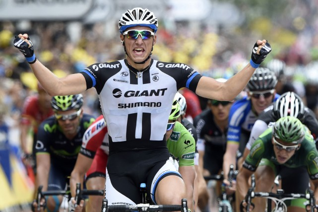 L'Allemand Marcel Kittel a devancé le Slovaque Peter... (Photo Eric Feferberg, archives AFP)