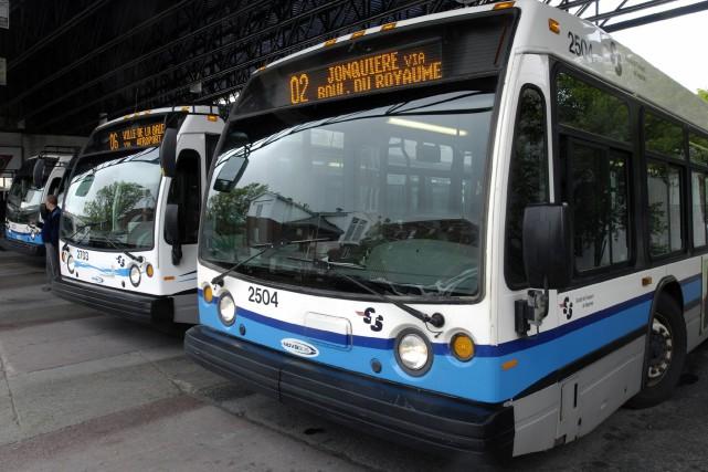 La Société de transport de Saguenay est à... ((Archives))