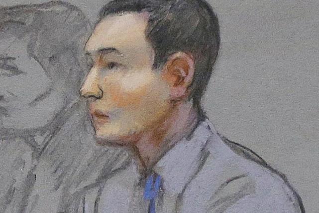 Azamat Tazhayakov est soupçonné, tout comme son colocataire,... (ILLUSTRATION JANE FLAVELL COLLINS, ARCHIVES AP)