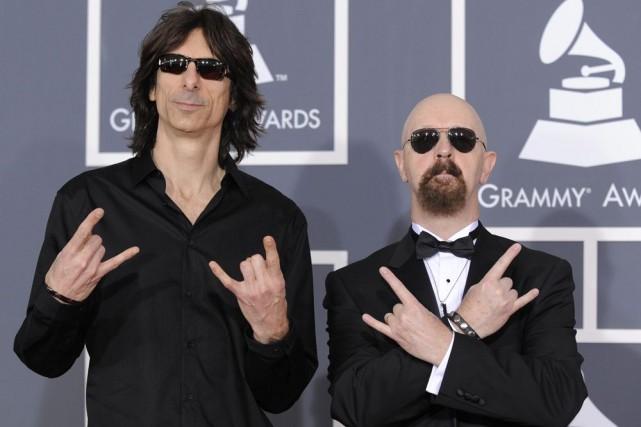 Scott Travis et Rob Halford de Judas Priest... (Photo: archives AP)