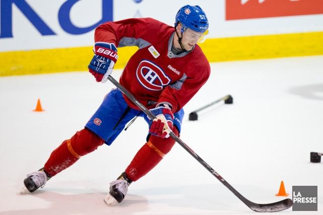 À sa troisième saison dans la KHL l'année... (Photo David Boily, La Presse)
