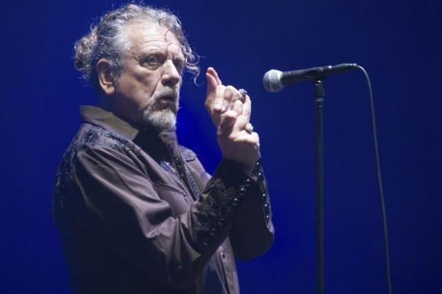 Robert Plant en spectacle aux Eurockéennes dimanche.... (Photo: AFP)