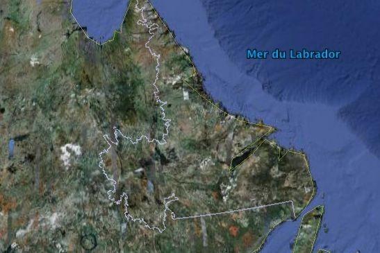 Certains villages côtiers tels Hopedale et Makkovik n'ont... (Google Earth)