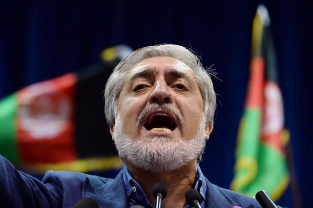 Le candidat à la présidentielle afghane Abdullah Abdullah... (PHOTO SHAH MARAI, AFP)